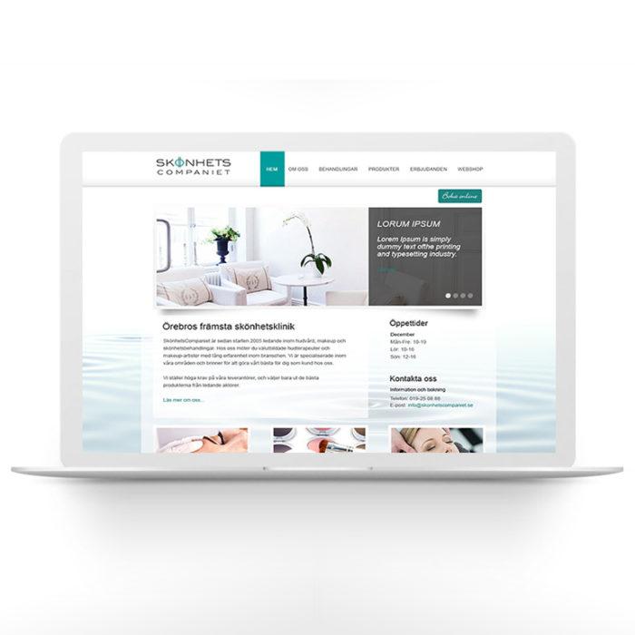 Webbdesign – Skönhetscompaniet