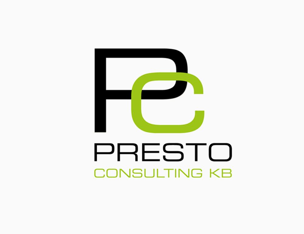 Logotyp och grafisk profil – Presto Consulting KB